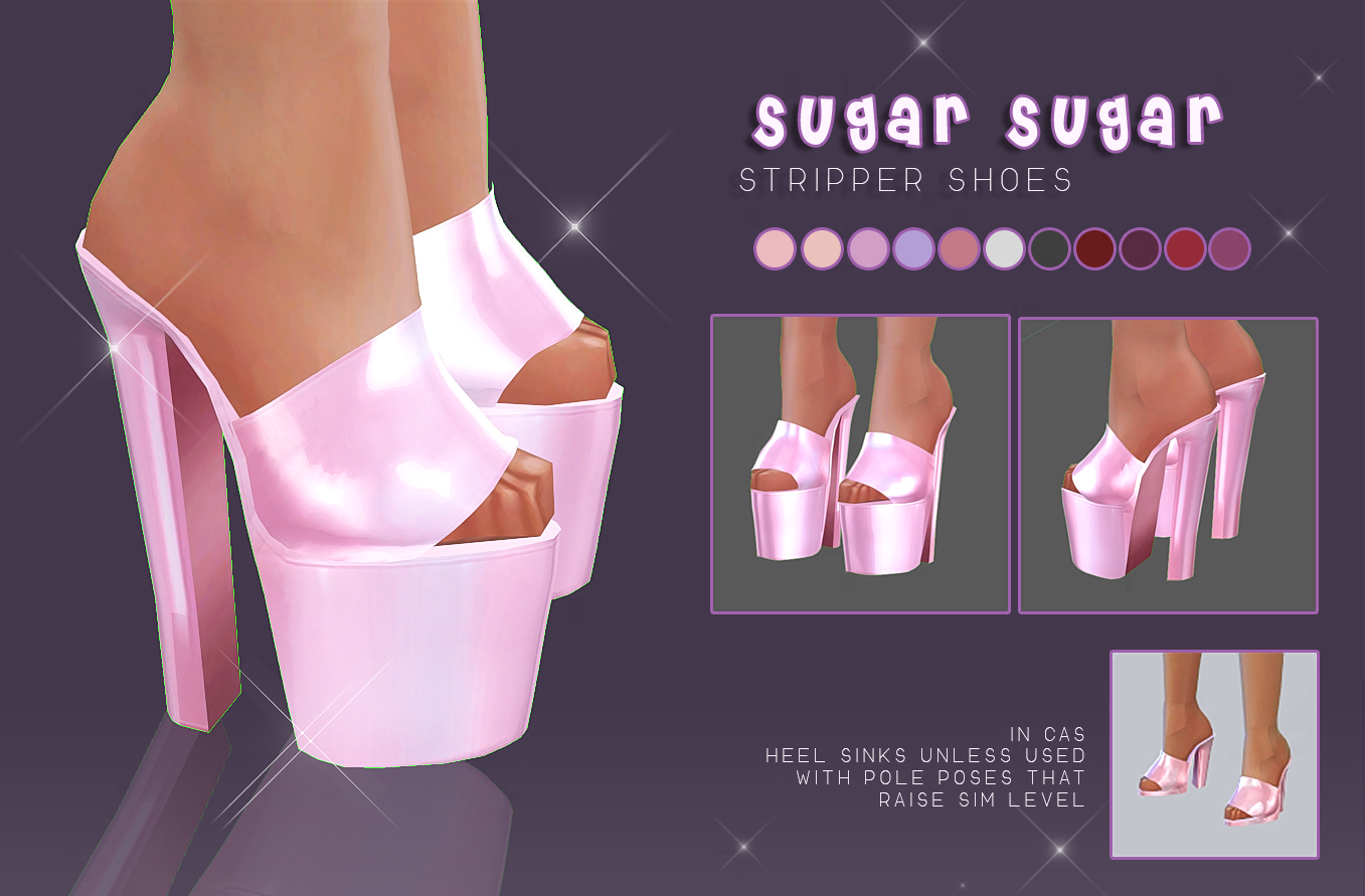 MYOBI-Sugar Sugar Stripper Shoes by Screaming Mustard