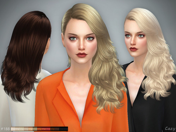 #188 - Female Hairstyle - Sims 4 by Cazy