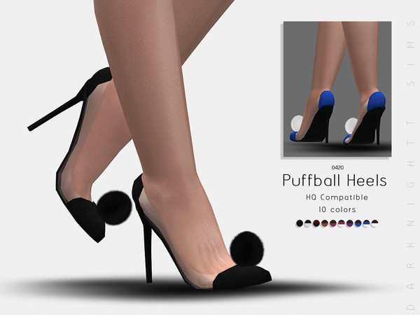 Puffball Heels by DarkNighTt