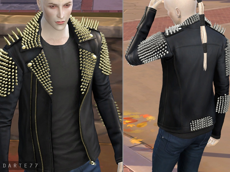 Studded Leather Jacket - Early Access by Darte77