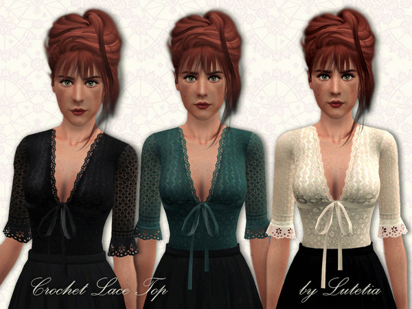 Crochet Lace Top by Lutetia