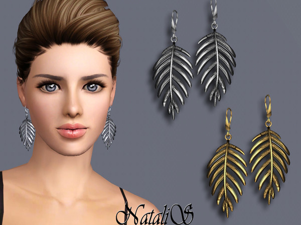 NataliS TS3 Palm leaf earrings