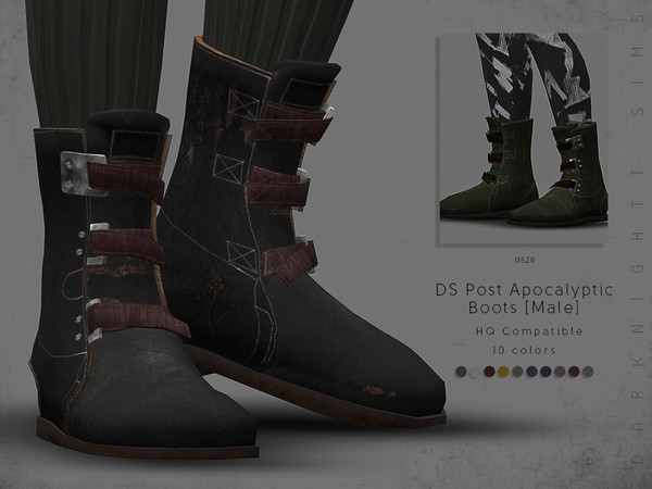 DS Post Apocalyptic Boots [Male] by DarkNighTt