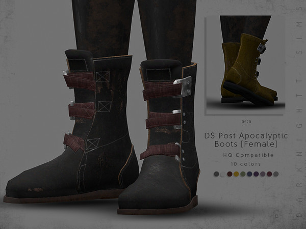 DS Post Apocalyptic Boots [Female] by DarkNighTt