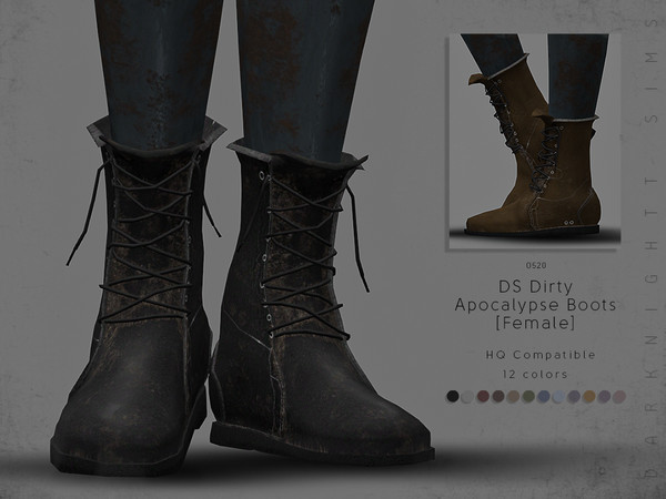 DS Dirty Apocalypse Boots [Female] by DarkNighTt