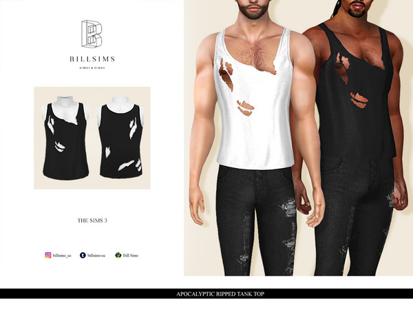 Apocalyptic Ripped Tank Top by Bill Sims