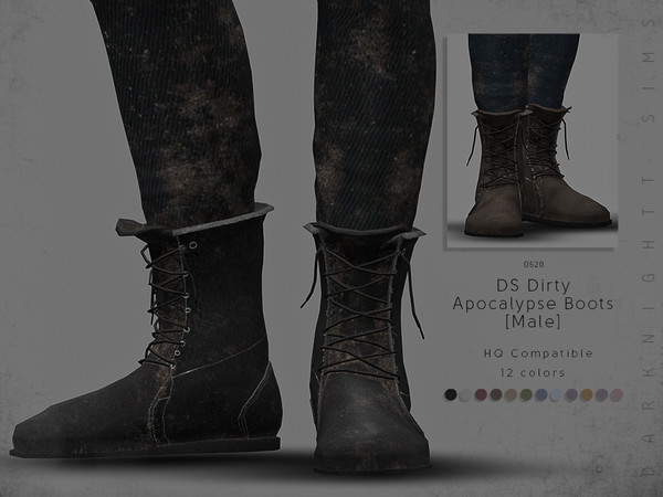 DS Dirty Apocalypse Boots [Male] by DarkNighTt
