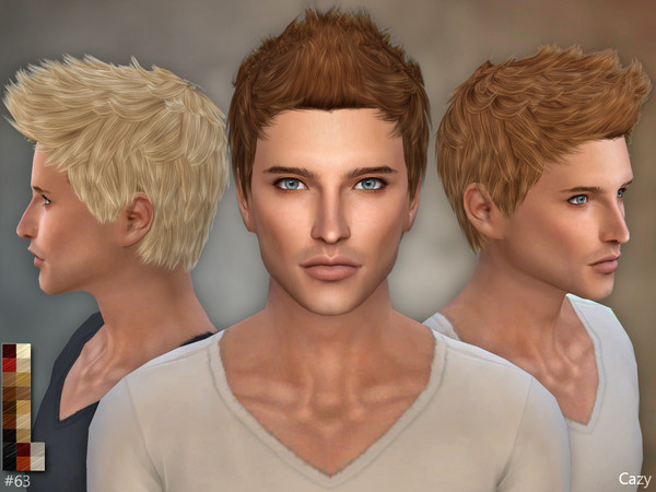 63 - Male Hairstyle - Sims 4 by Cazy