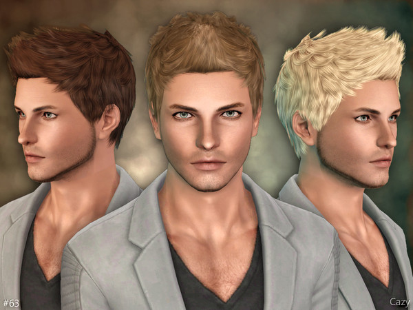63 - Male Hairstyle - Sims 3 by Cazy