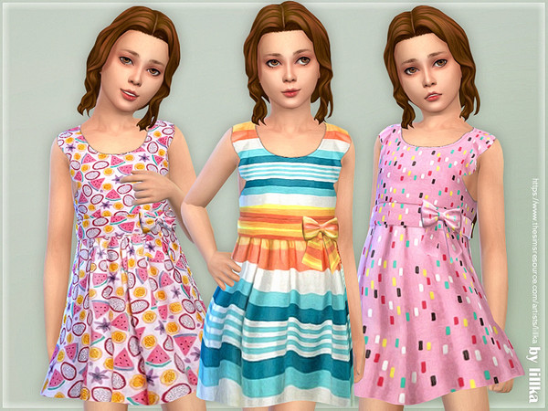 Girls Dresses Collection P142 by lillka