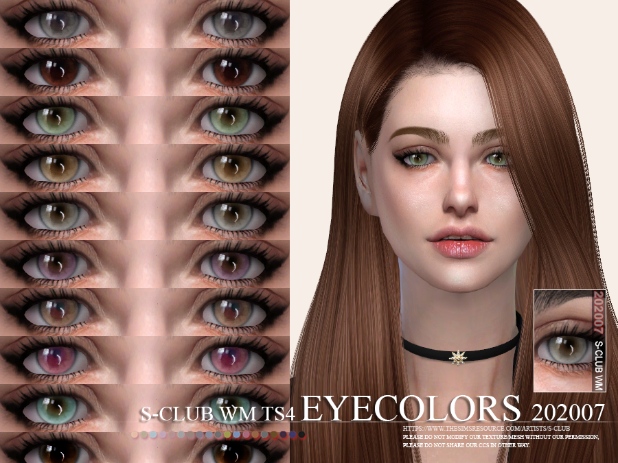 S-Club WM ts4 Eyecolors 202007