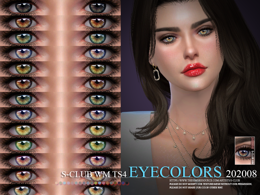 S-Club WM ts4 Eyecolors 202008