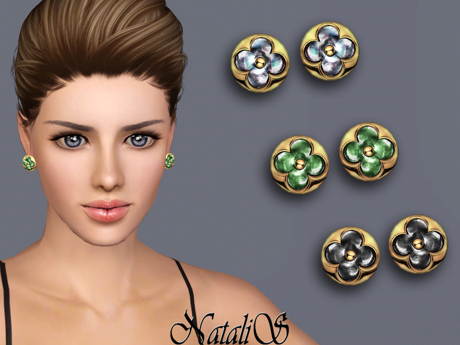 NataliS TS3 Flower stud earrings