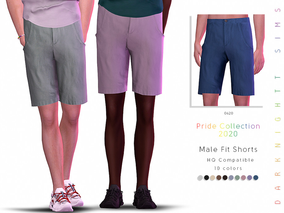 [Pride Collection 2020] Male Fit Shorts by DarkNighTt