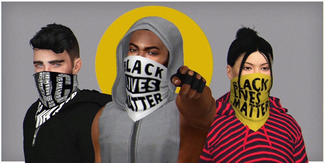 BLM Face Scarf by WistfulCastle