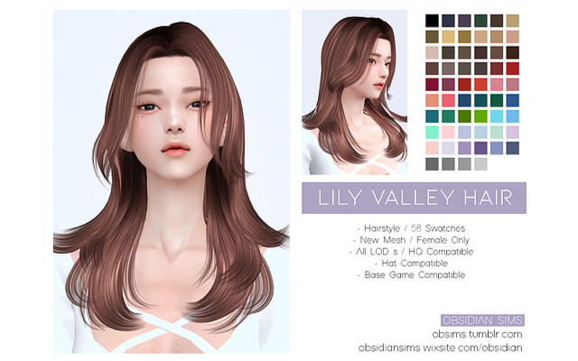 LILY VALLEY HAIR / New mesh *FIXED* by OBSIDIAN