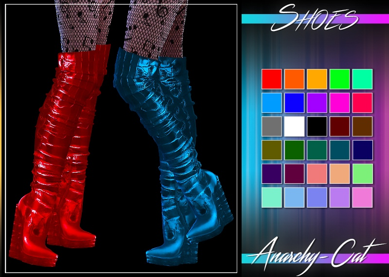 Mila_Platform Heel Long Boots by Anarchy-Cat