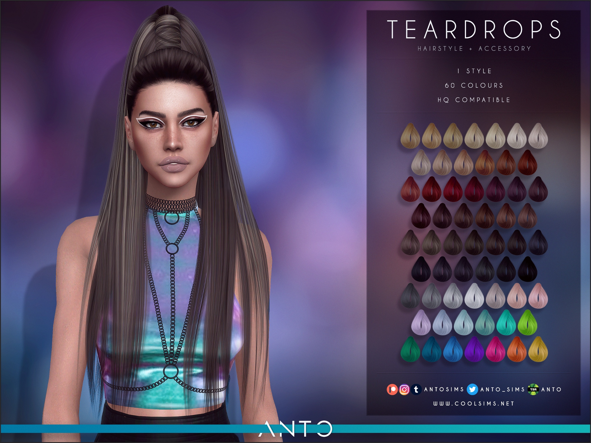 Teardrops Hairstyle by Anto