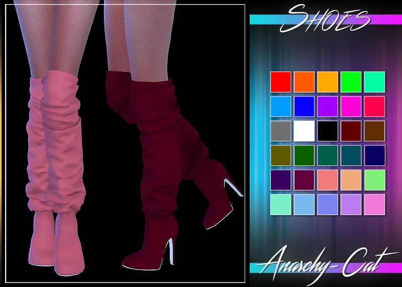REDHEADSIMS_Shoes Nelly Boots by Anarchy-Cat