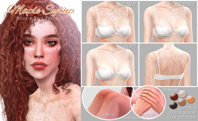 MAPLE SYRUP Body & Face Freckles by Pralinesims