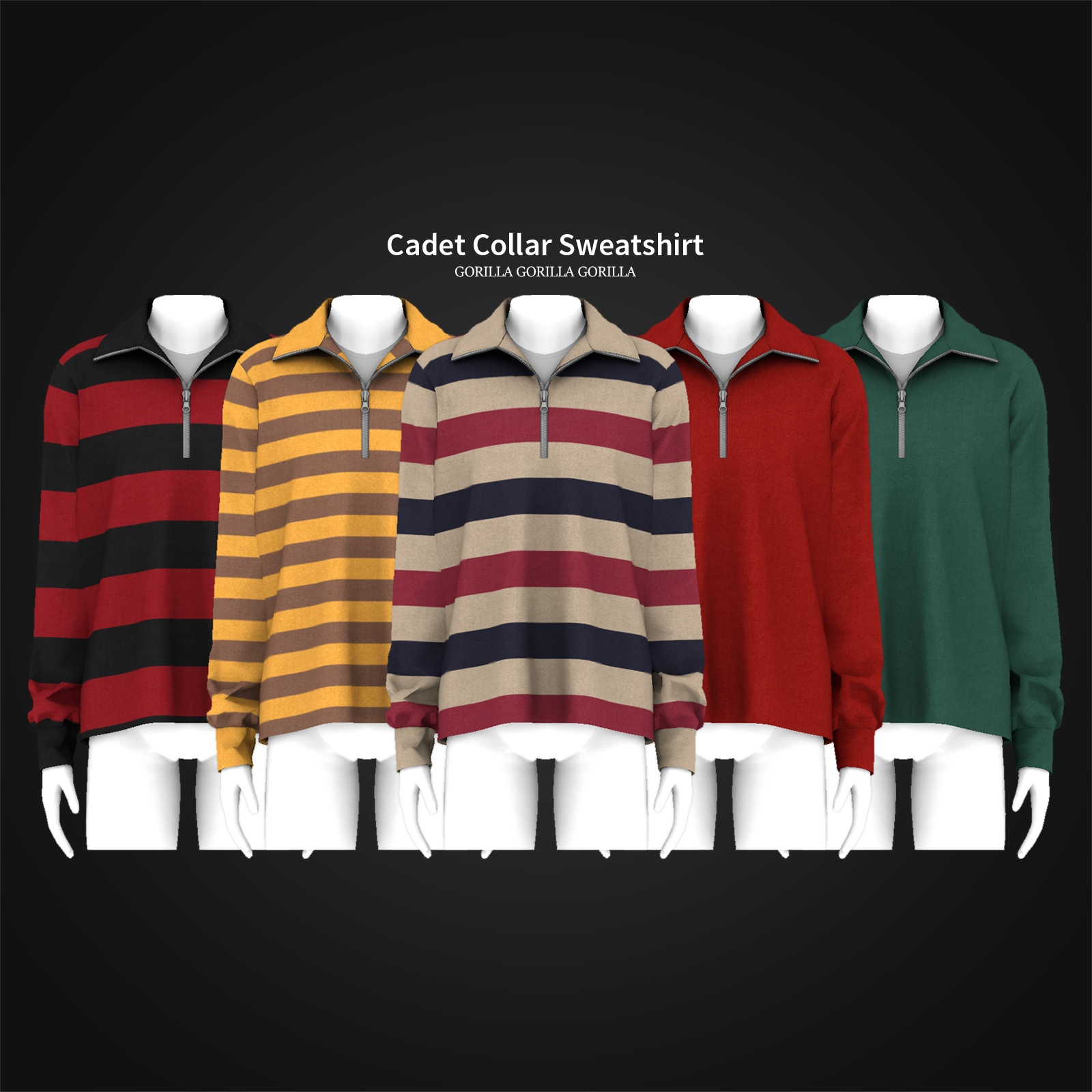 Cadet Collar Sweatshirt by Gorilla