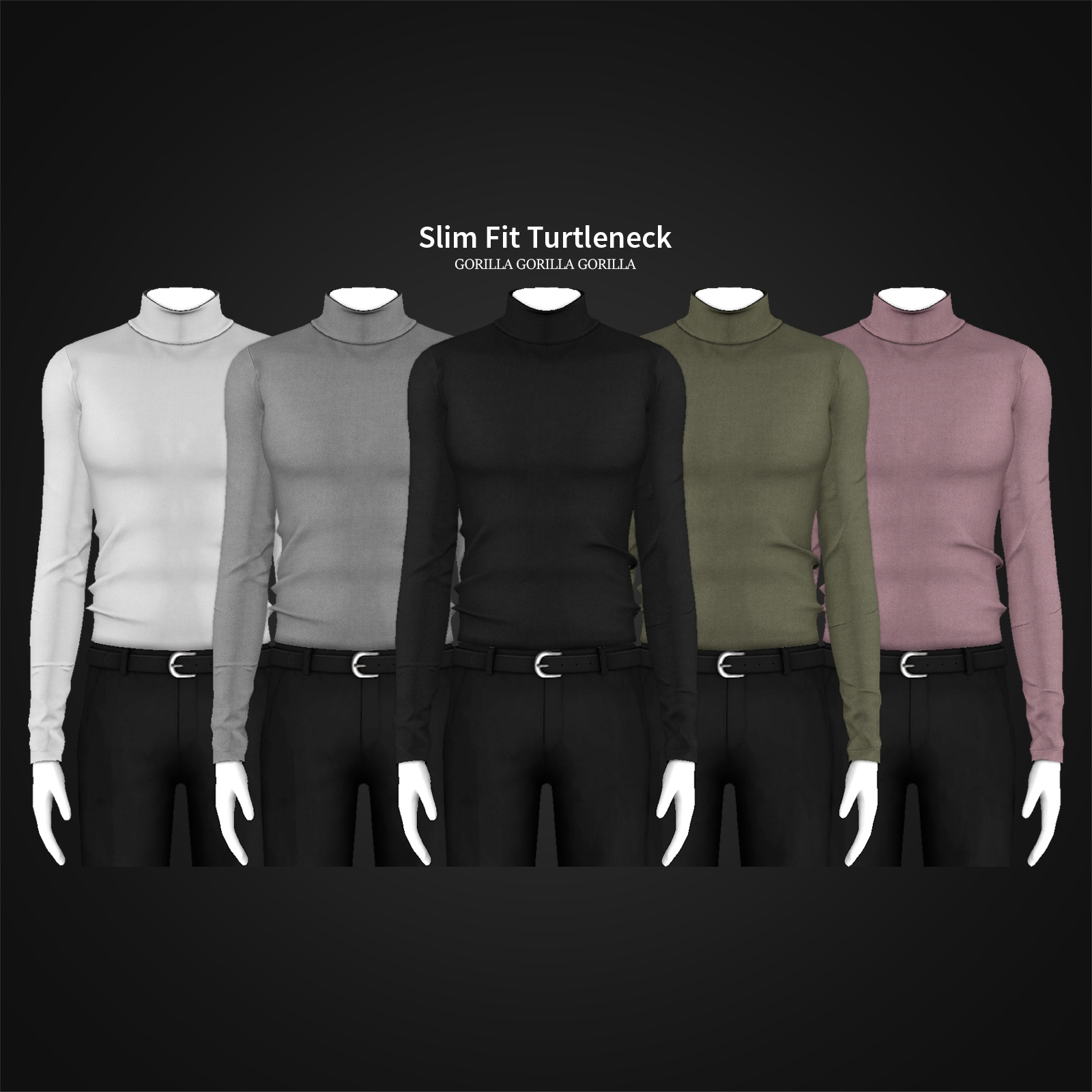 Slim Fit Turtleneck by Gorilla