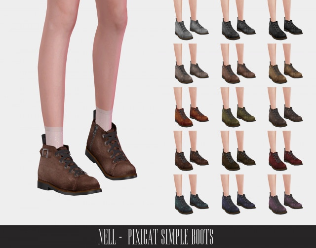 Pixicat Simple Boots by Nell-le
