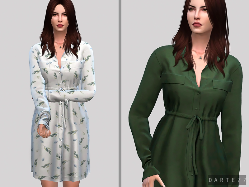Waist Shirt Dress by Darte77