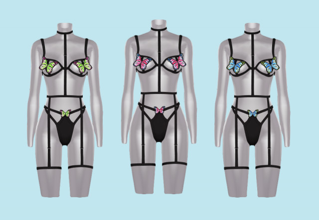 butterfly lingerie by korka-sims