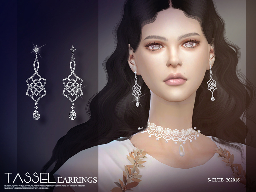 S-Club ts4 LL EARRINGS 202016
