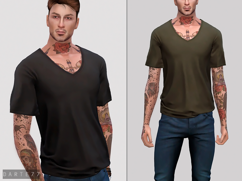 V Neck T-Shirt by Darte77