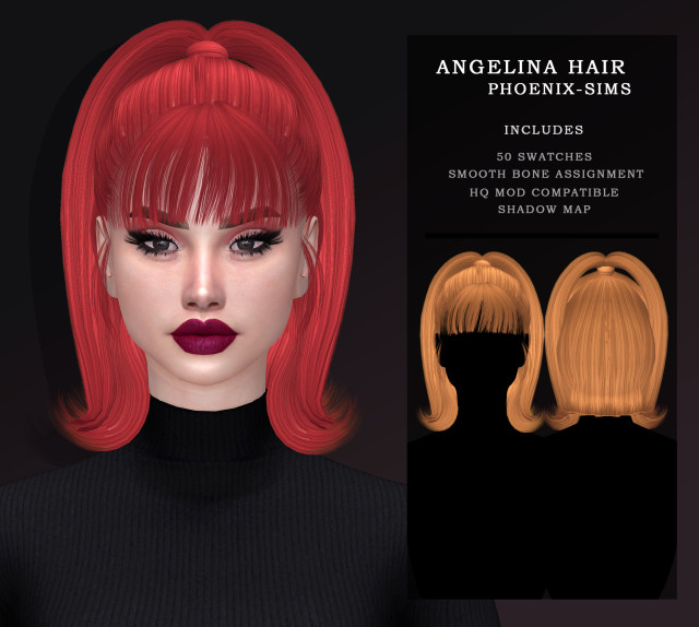 ANGELINA HAIR by PhoenixSims