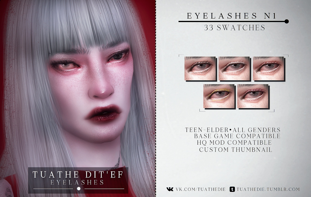 2D eyelashes N1 by tuathe dit'ef