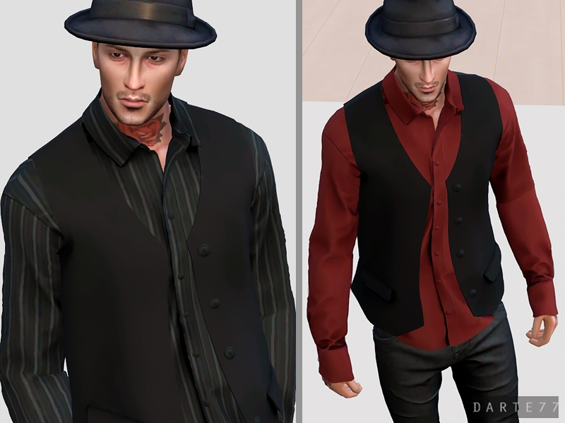 Long Sleeve Shirt and Vest - Early Access by Darte77
