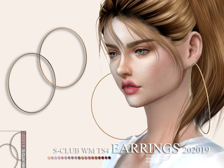 S-Club ts4 WM EARRINGS 202019
