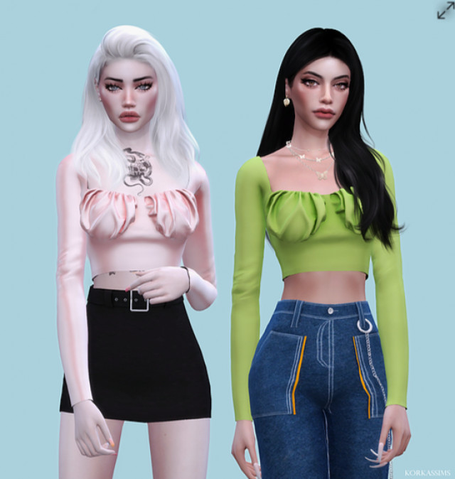 BONEY TOP by Korka-Sims