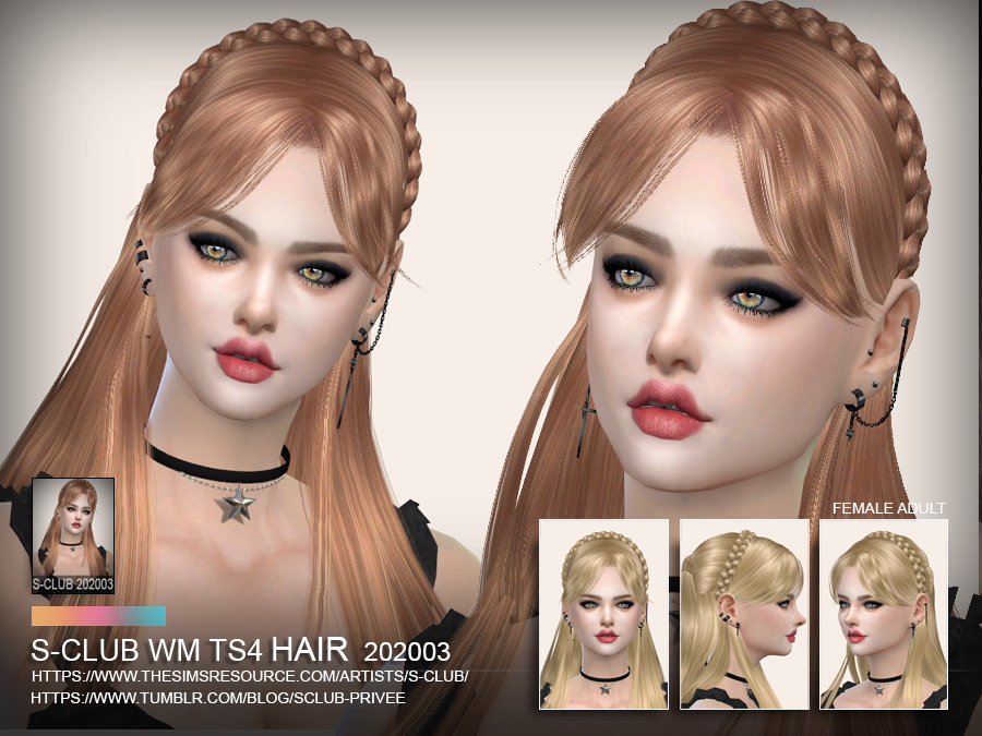 S-Club ts4 WM Hair 202003