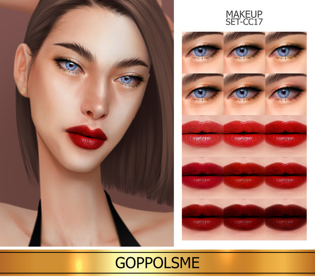 Makeup_set_cc17 by GoppolsMe