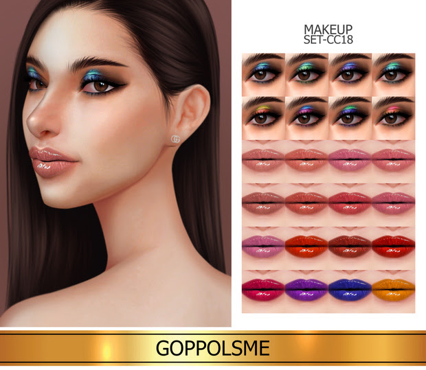 Makeup_set_cc18 by GoppolsMe