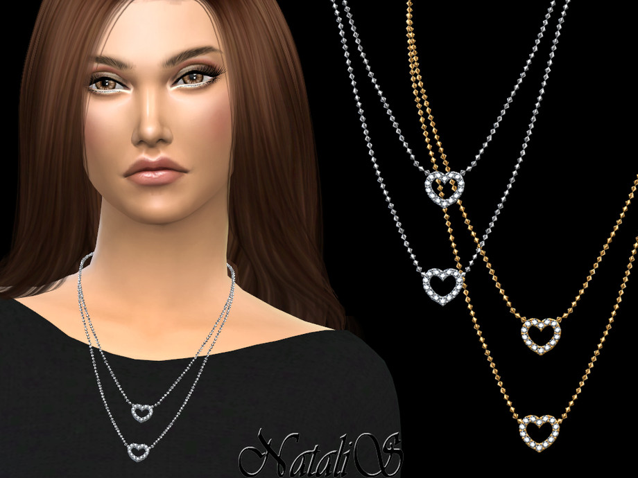 NataliS_Crystal open heart necklace