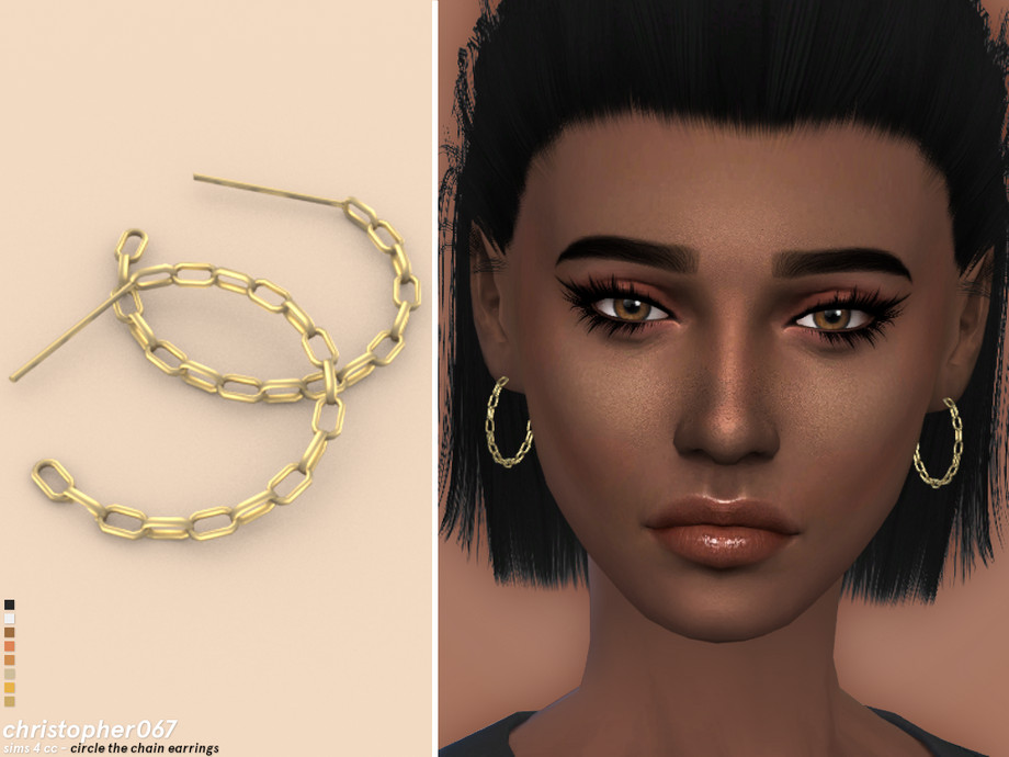 Circle The Chain Earrings by Christopher067