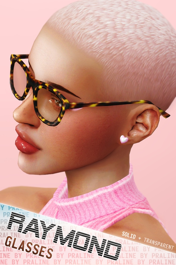 RAYMOND Glasses (Solid + Transparent) by Pralinesims
