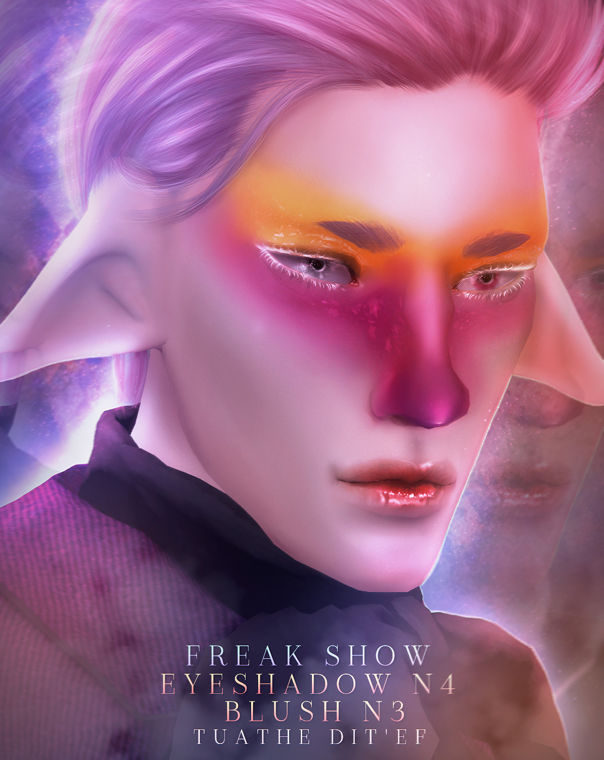 MAKEUP SET N4  «FREAK SHOW» COLLECTION by tuathe dit'ef