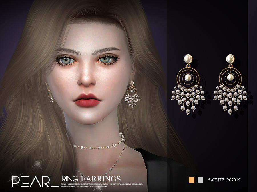 S-Club ts4 LL EARRINGS 202019