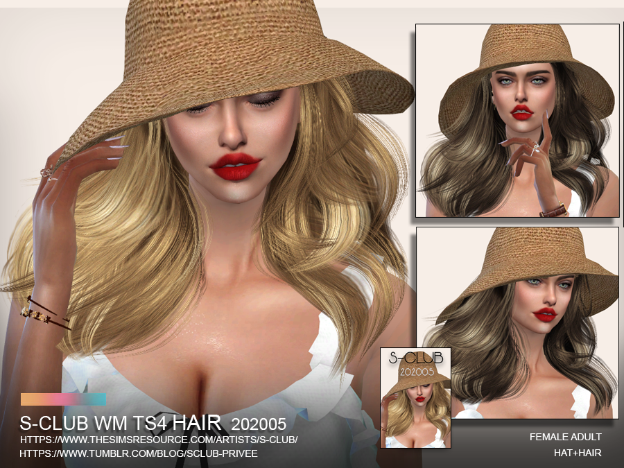 S-Club ts4 WM Hair 202005