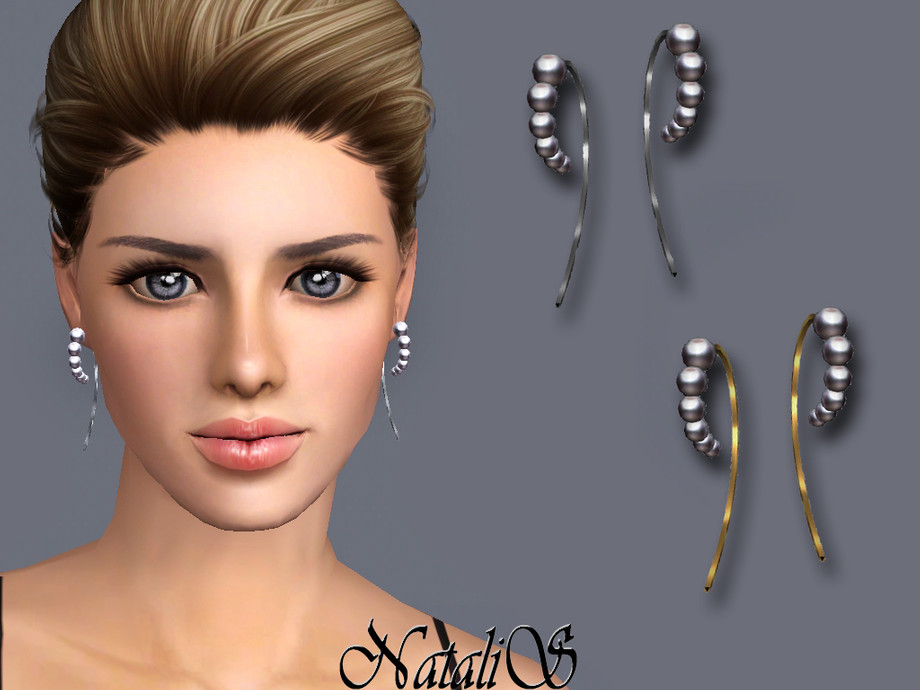 NataliS TS3 Graduated pearl wire earrings