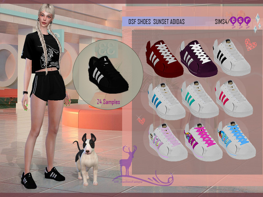 DSF SHOES SUNSET ADIDAS by DanSimsFantasy