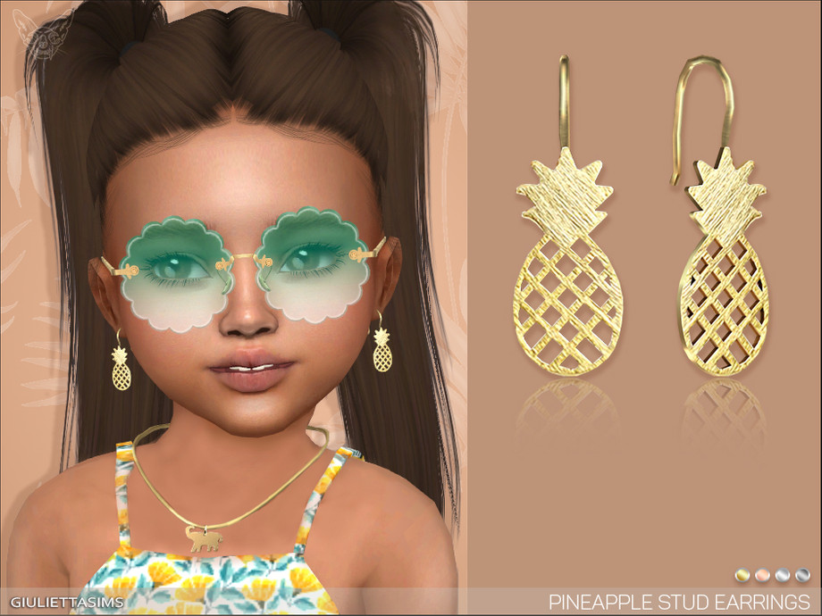 Pineapple Earrings For Toddlers by feyona