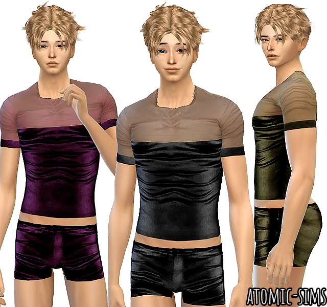 PixelDolly Ghanima Leather male PJ 2 conversion by Atomic-sims