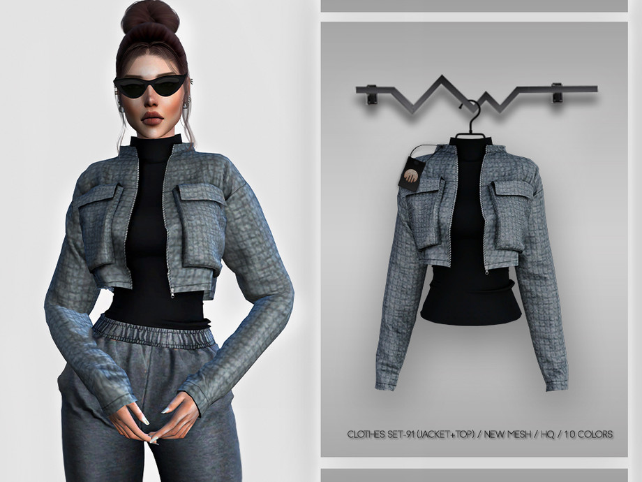 Clothes SET-91 (JACKET+TOP) BD345 by busra-tr